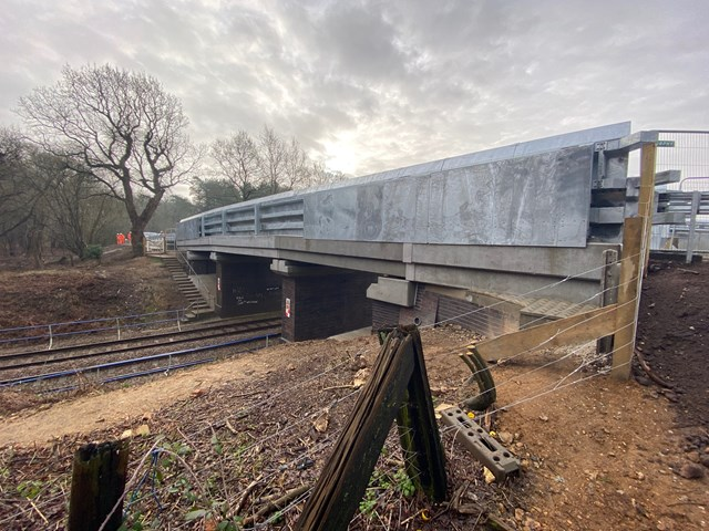 Eccles Heath bridge complete