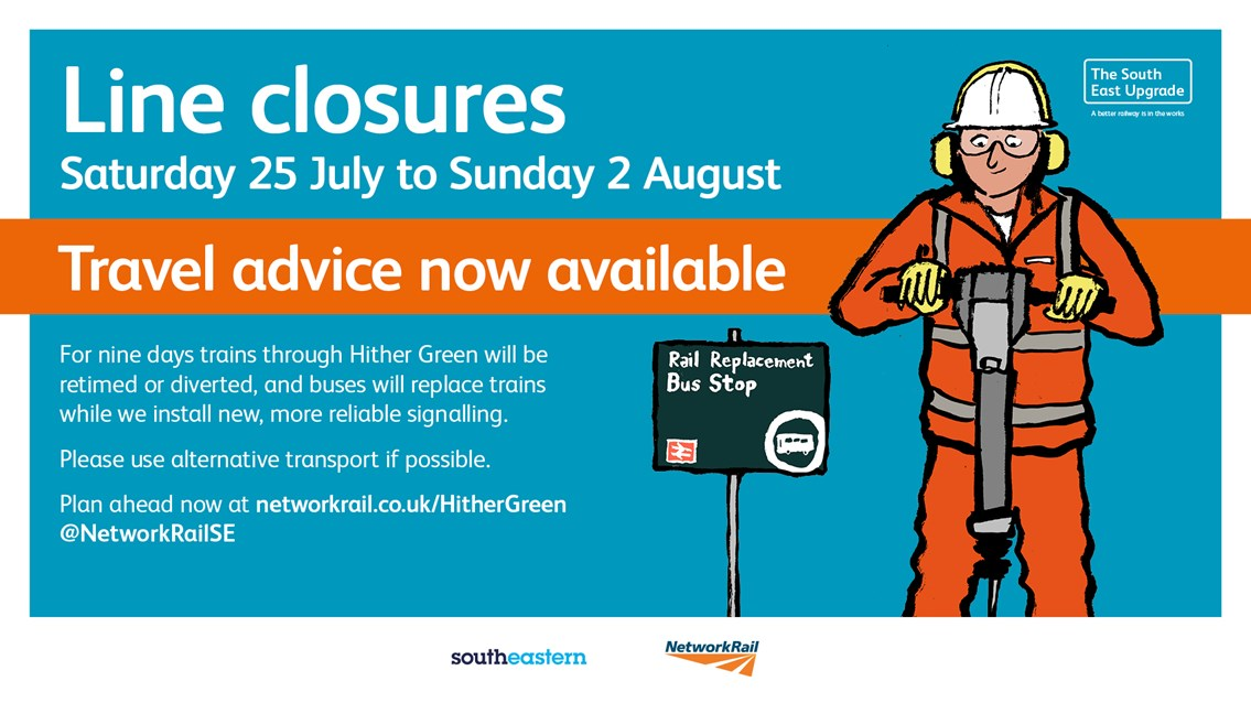 Nine-day line closures in South East London – have you planned ahead?: Hither Green travel advice