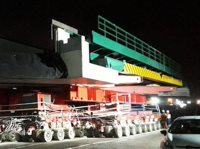 New bridge transported to site