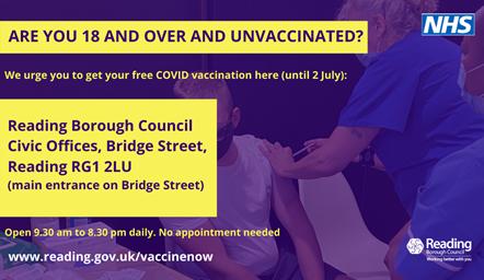2 July Vaccine Clinic Civic