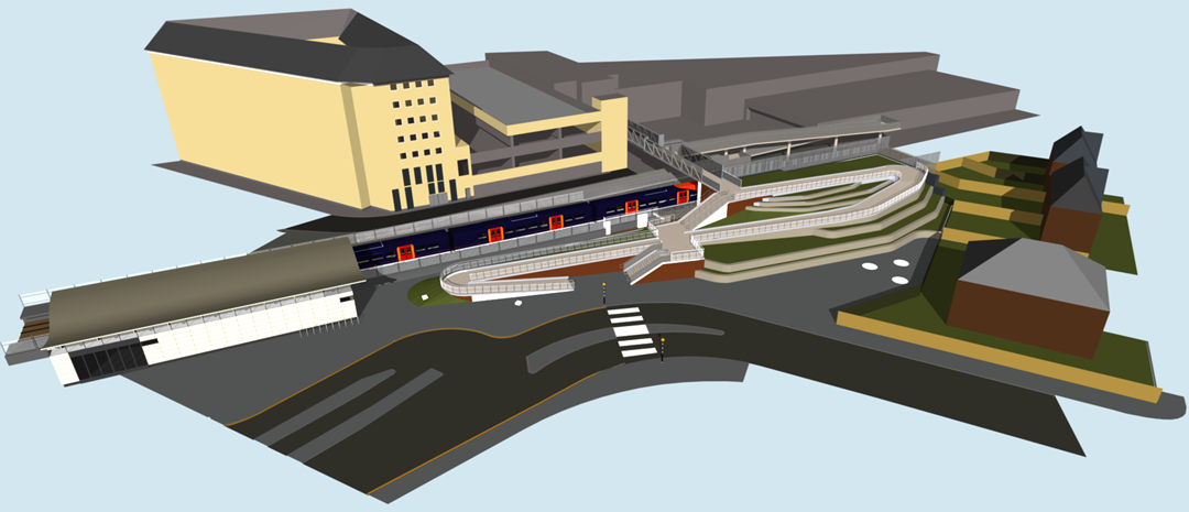 Feltham residents invited to find out more ahead of £23 million station redevelopment: Feltham artist impression