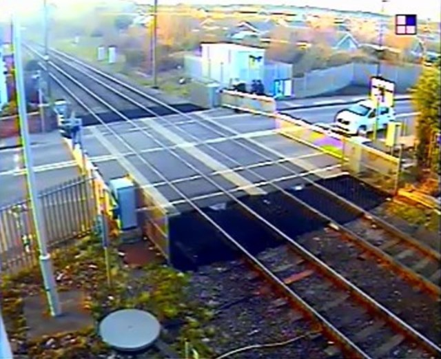 Network Rail warns people in Doncaster to use level crossings safely as shocking footage shows youths trying to lift barrier: Shocking footage shows youths trying to lift barrier at Rossington level crossing