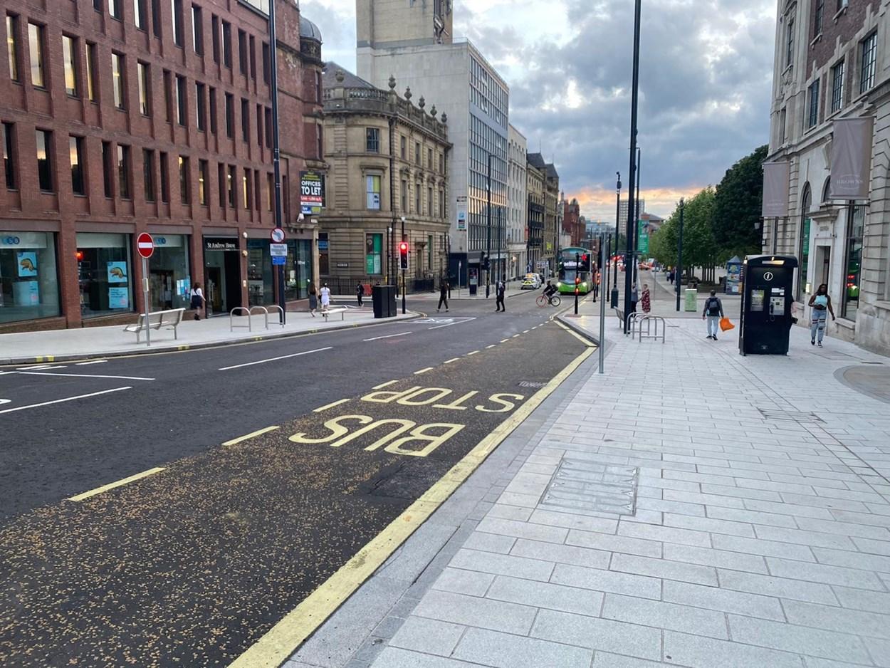 Headrow wider pavements