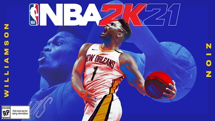 NBA 2K21 - Zion Williamson Next-Gen Cover Horizontal FINAL