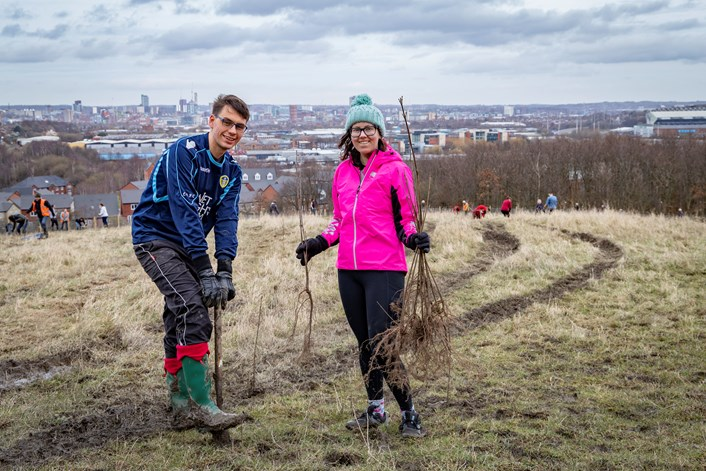 More than 200,000 trees have been planted in Leeds over the past year.: LCC Tree Planting 42