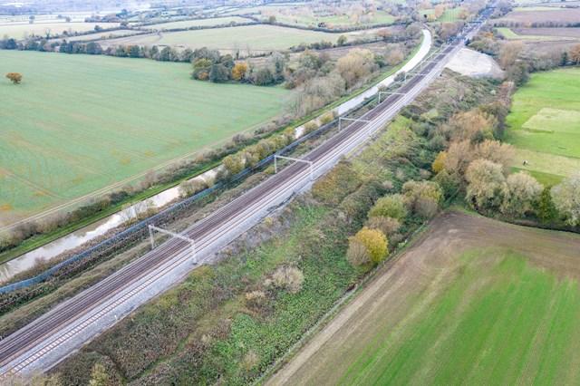 Aerial shot before Hopsford Hall work April 2020