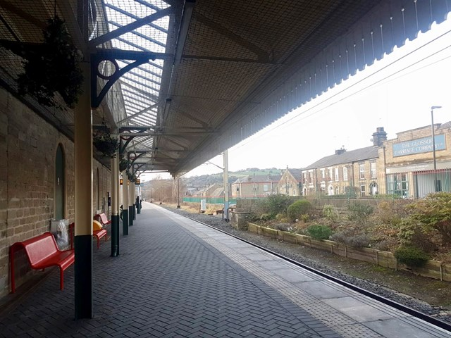 Glossop station platform