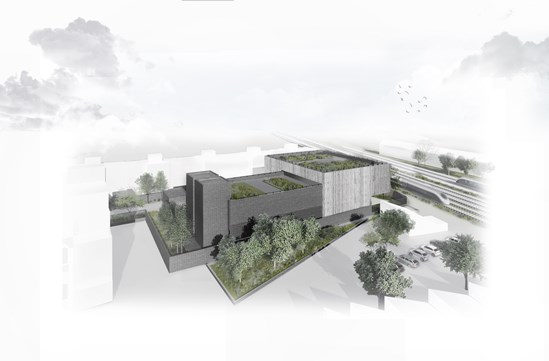 Designs for HS2 Canterbury Works vent shaft and headhouse revealed: Canterbury Works headhouses October 2020