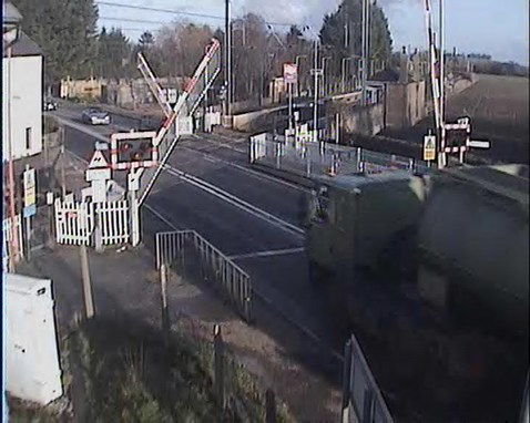 Tanker driver runs the risk at Foxton crossing, Cambs (1)