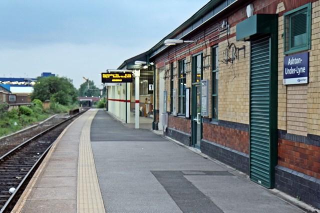 Ashton-under-Lyne station closed for three weeks for railway upgrade: Ashton-under-Lyne railway station platform 1-2