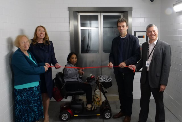 New lifts officially opened at Carshalton station with Tom Brake MP and local campaigners: Carshalton best
