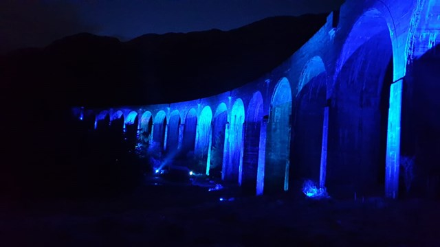 Iconic Glenfinnan viaduct lit-up for our NHS heroes: 27A67819-0B6B-449A-BCC1-4996A474DC1E