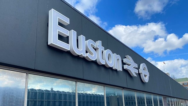 Railway improvements close Euston station this May bank holiday: Euston station sign April 2021