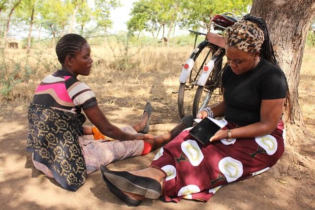 CCPM baseline test in session at Kanyenze village Traditional Authority Ngabu in Chikwawa- Malawi (11)