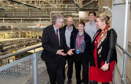 First Minister of Wales visits Airbus on eve of Brexit: First Minister of Wales visits Airbus on eve of Brexit