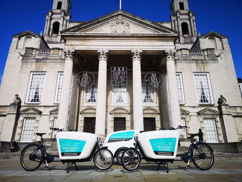 Leeds city council and partners secure grant to buy more electric-cargo bikes for sustainable deliveries in West Yorkshire: E-Cargo City Centre Pictures (7)
