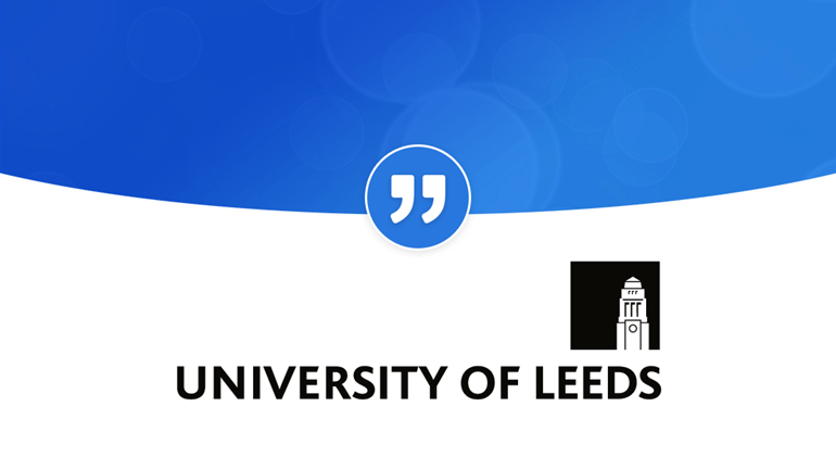 """University of Leeds """"PRgloo is intuitive and easy-to-use"""": LeedsUniQuote"""