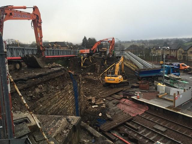 Demolition at Station Road, Shotts-3