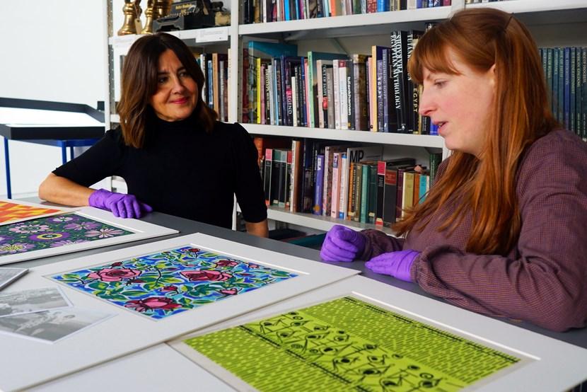 Yorkshire designer's colourful work finds new home in Leeds: DSC02735