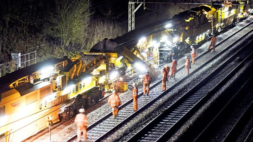 West Coast main line spring railway improvement plan revealed: Night time work on West Coast main line