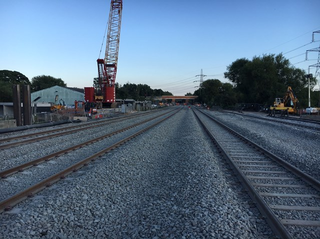 Didcot to Oxford line re-opened on schedule following improvement works: Towards Didcot (2)