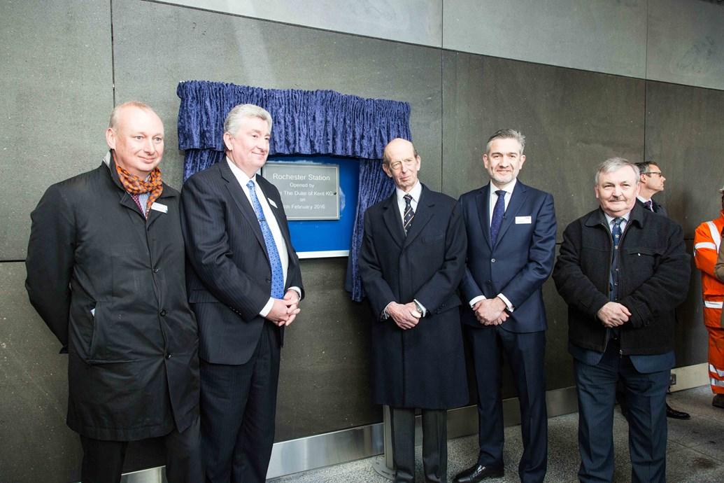HRH The Duke of Kent officially opens Rochester station: HRH The Duke of Kent officially opens Rochester station