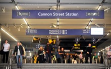 Cannon St station stock photo