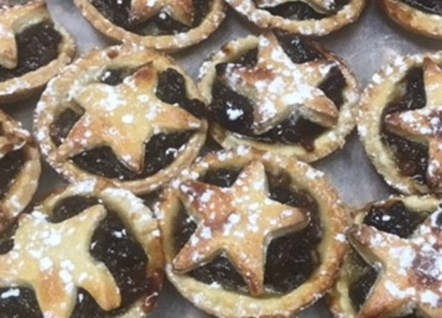 Charity mince pies