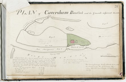 Plan of Caversham pound lock, 1815: Plan of Caversham pound lock, 1815 - copyright Berkshire Record Office