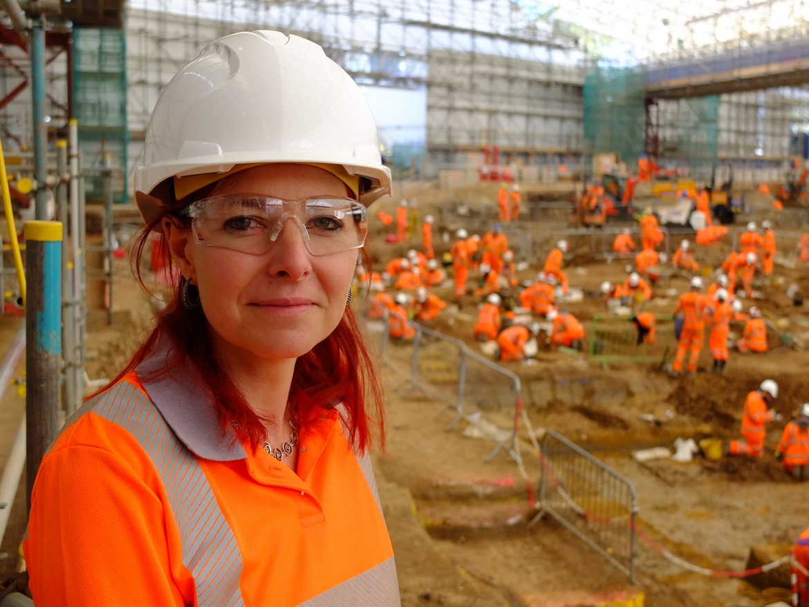 HS2's archaeological dig to be showcased in BBC documentary: Professor Alice Roberts, presenter of 'HS2 - The Biggest Dig' at St James's Gardens September 2020
