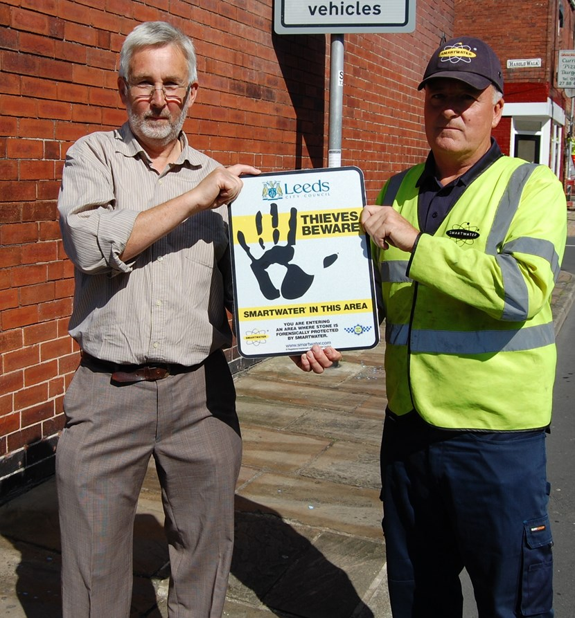 Innovative forensic traceable liquid to join fight against paving stones thefts in Leeds: smartwater1.jpg