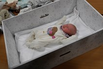 Baby Boxes Begin: First Minister gifts first Baby Boxes to expectant parents.