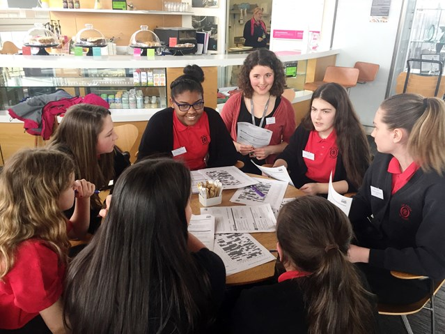 Female Network Rail engineers become STEM role models: Wales - Hannah Kennedy, assistant asset engineer at Network Rail during a 'People Like Me Session'
