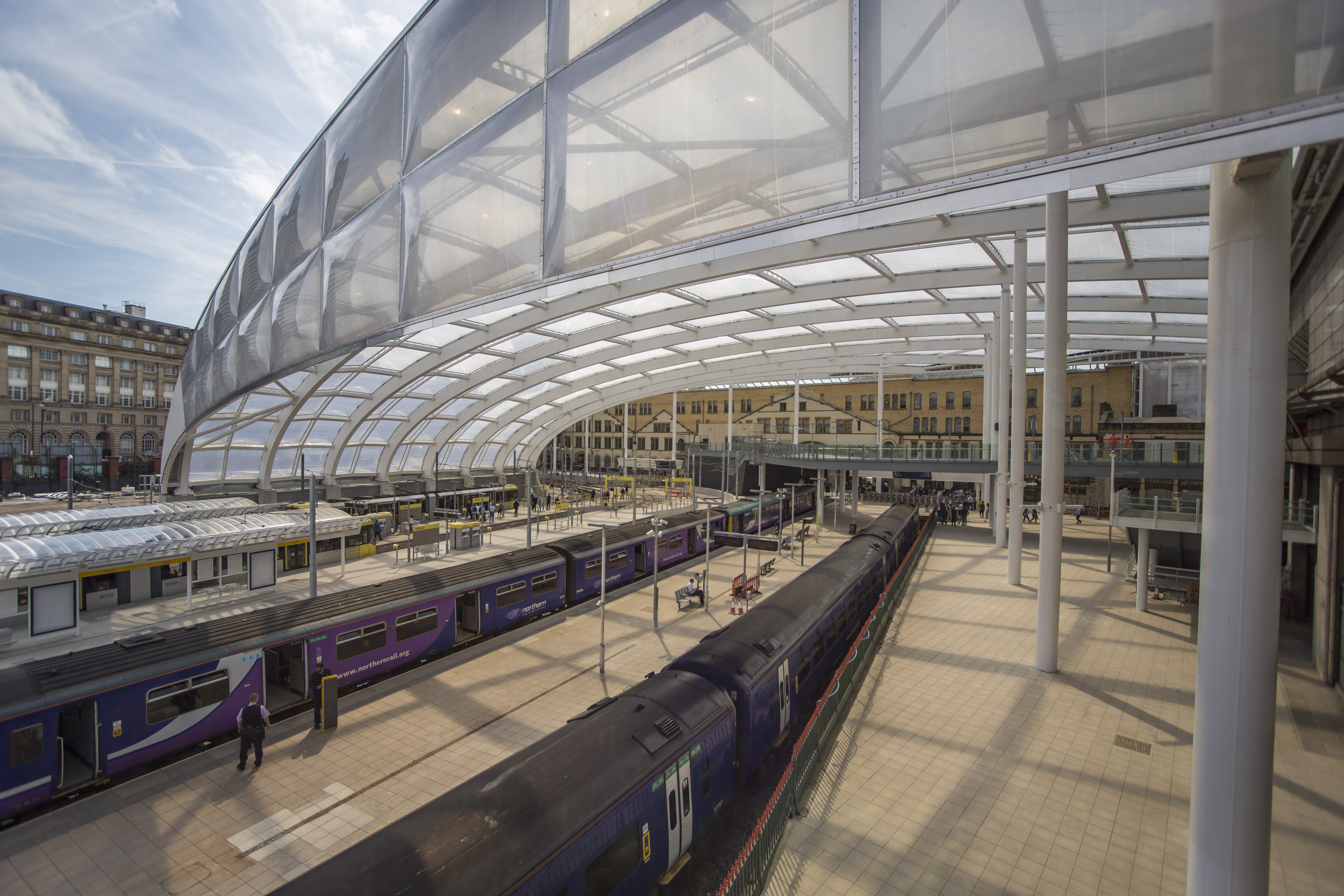 Manchester Victoria and Salford Central stations reopened following