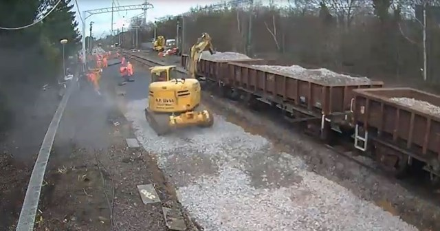 Engineering work taking place at Fletton nr Peterborough