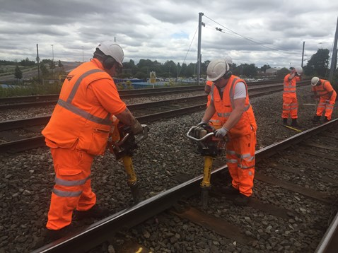 Track repairs taking place near Lichfield Trent Valley