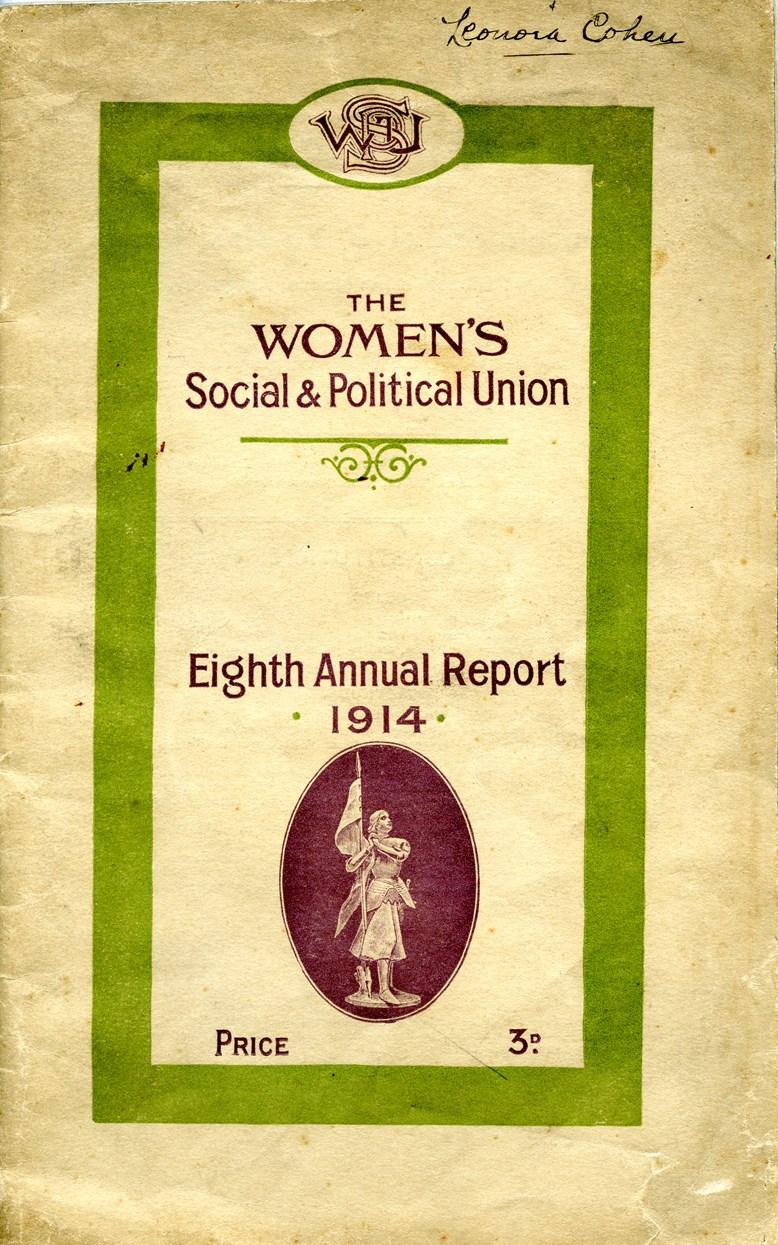 Object of the week- WSPU annual report: leedm.e.1989.0010.0004.jpg