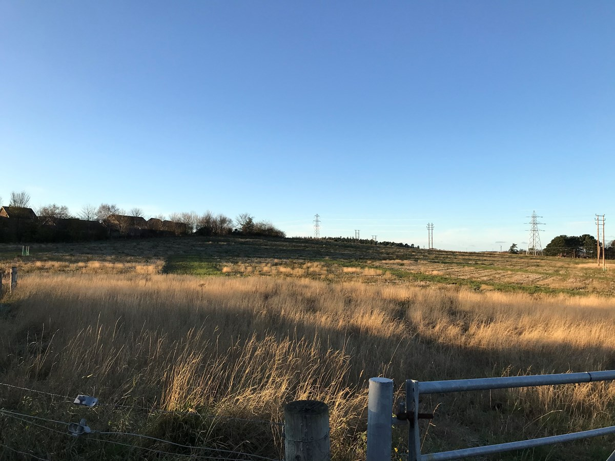 Findrassie phase one site: Field site where the Findrassie Masterplan will begin to take shape