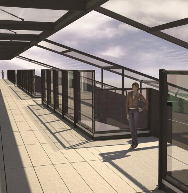 Footbridge Plans: PLANS UNVEILED FOR EAST CROYDON FOOTBRIDGE