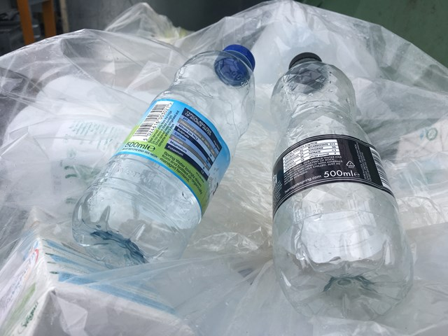 Plastic waste ready to be compacted