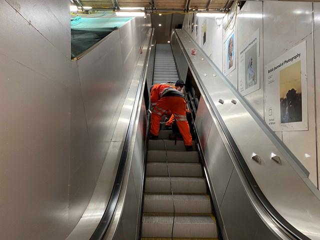 UV handrail sanitiser installation 1