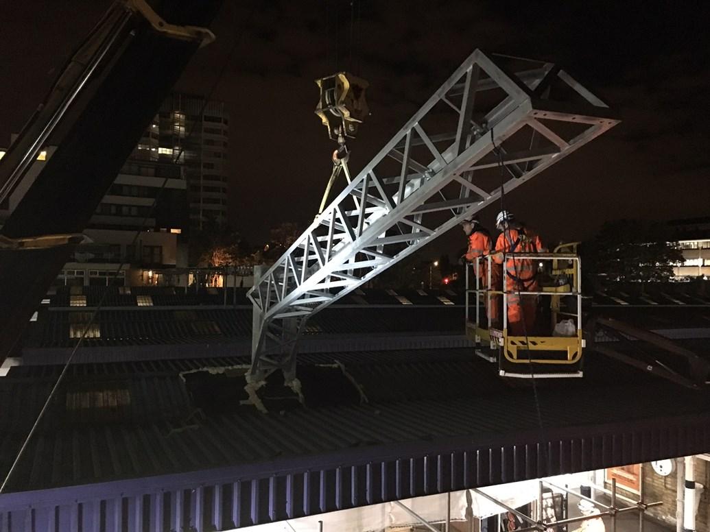 VIDEO: work to electrify railway between Gospel Oak and Barking 80% complete: Gospel Oak to Barking structure installation