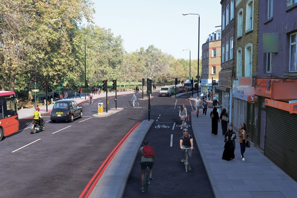 TfL Image - Burdett Rd/Common Lane