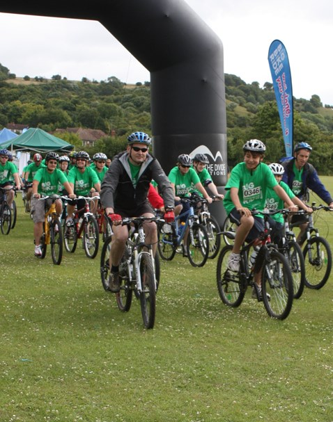 NR CEO Iain Coucher takes part in the the Big Bike Ride for the NSPCC