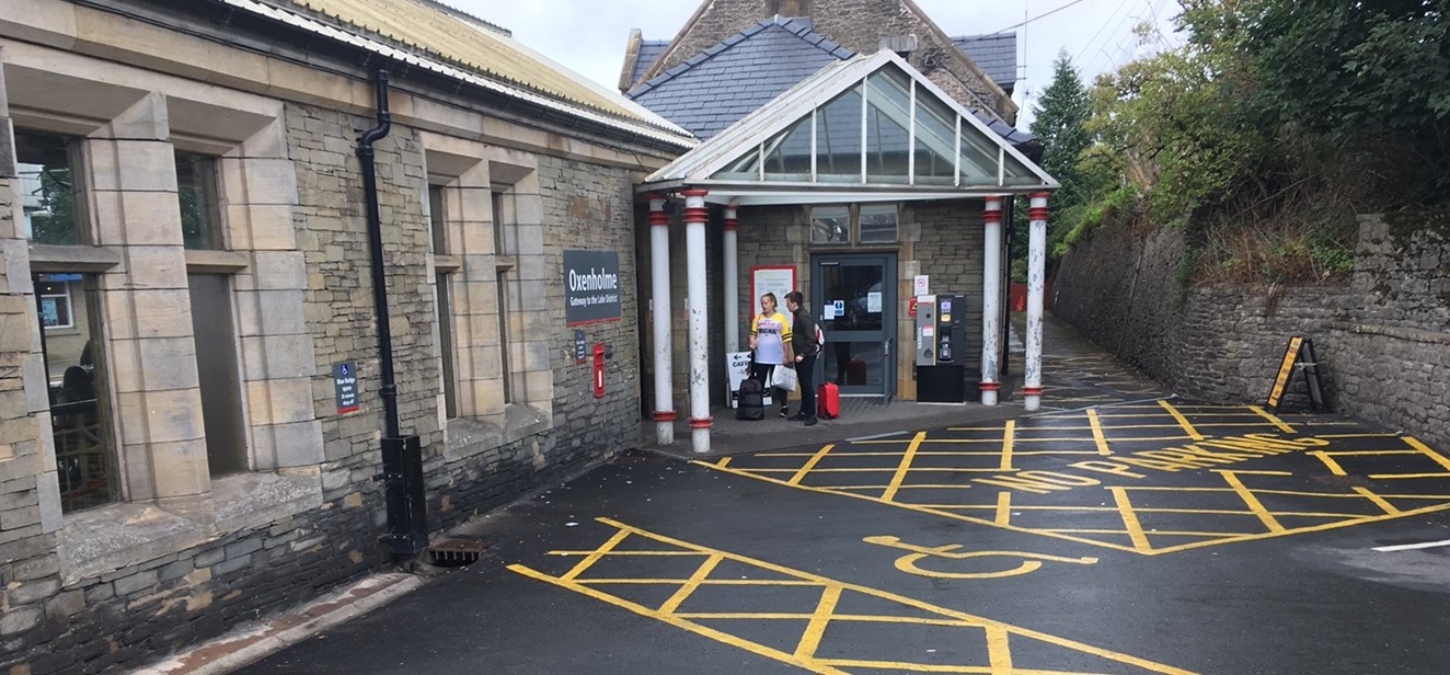 Car park improvements completed at busy South Lakes station: Oxenholme station-2