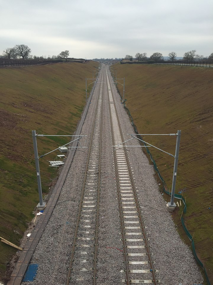The new cutting which forms part of the £250m Stafford project