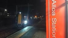 Test train at Alloa