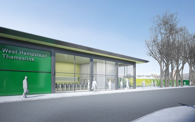 UNVEILED: NEW STATION AT THE HEART OF IMPROVED WEST HAMPSTEAD INTERCHANGE: New station building at West Hampstead - Iverson Road