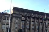 South African Flag flies at half mast