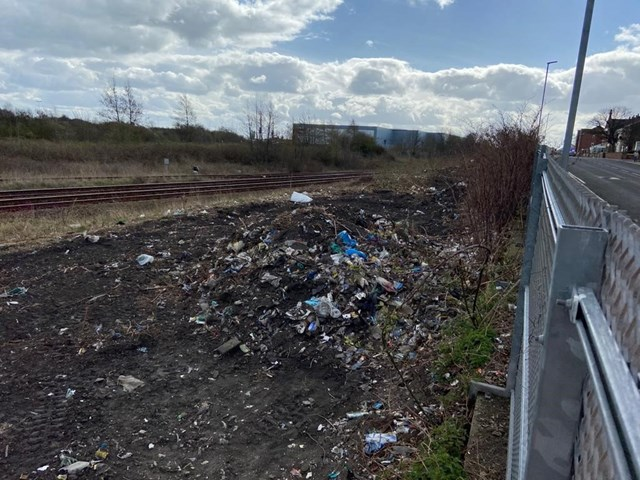 Network Rail teams clean up Hartlepool fly-tipping hotspot as passengers return to railway